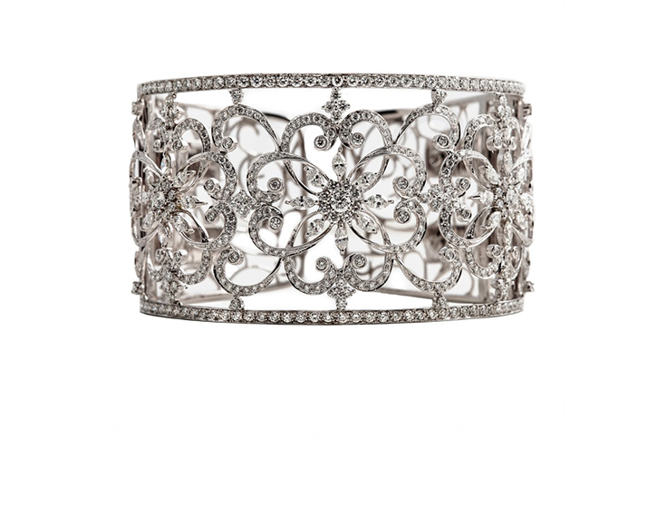 Wide Marquise Diamond Bangle
