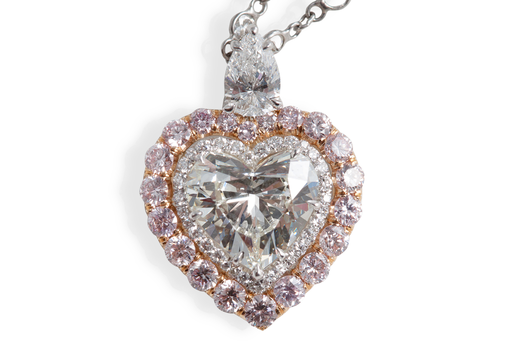 heart shape pendant ashi ctw silver sterling in diamond with diamo pe single chain cut