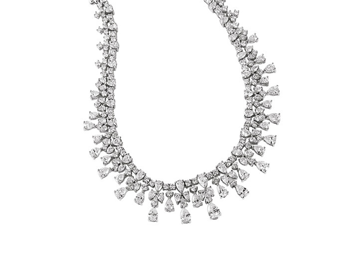 Draped Diamond Necklace